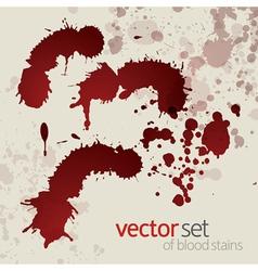 Splattered blood stains set 2 vector