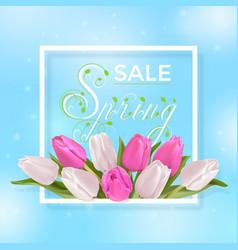 Spring sale typography vector