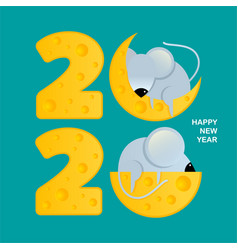 Square banner for happy new year symbol 2020 vector