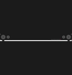 Surround sound - sound bar vector