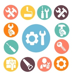 Tools isolated icons set vector image