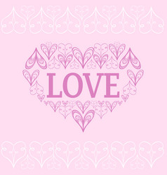 Valentine s background with stylized hearts vector