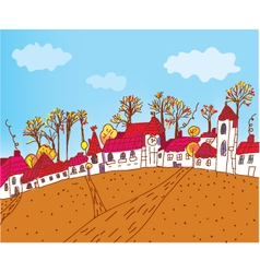vintage houses vector image