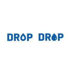 Water drop for logo design editable vector