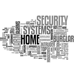 Whats the top burglar alarm text word cloud vector