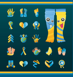 World down syndrome day campaign help awareness vector