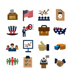 election icons vector image vector image