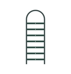 Ladder flat icon vector image