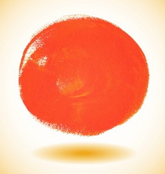 Orange watercolor paint circle vector image