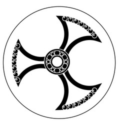spinner with transparent center and bearing vector image vector image