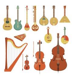 Stringed Musical Instruments vector image