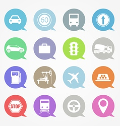 Transportation web icons set vector image vector image