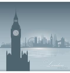 London England skyline city silhouette Background vector image