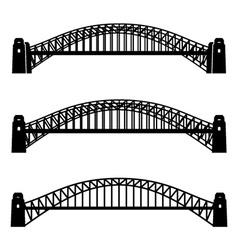 metal Sydney Harbour bridge black symbol vector image vector image