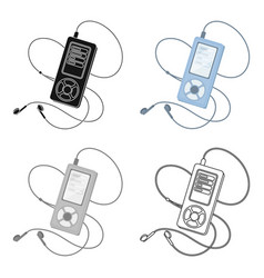 mp3 player for listening to music during a workout vector image