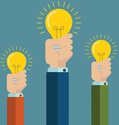 Flat style modern idea innovation light bulb vector image vector image