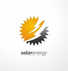 Solar energy logo design idea vector image vector image