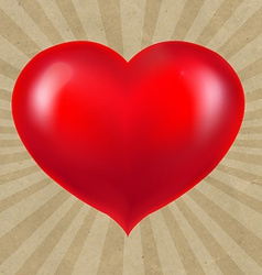 Sunburst Cardboard Paper With Red Heart vector image vector image