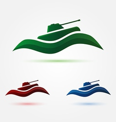 army or military abstract tank icon vector image