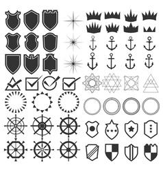 Retro design elements collection Set of vintage vector image vector image