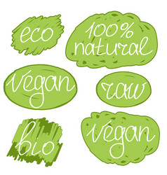vegan day colorfull set vector image