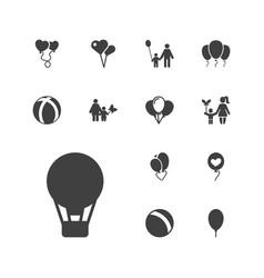 13 balloon icons vector
