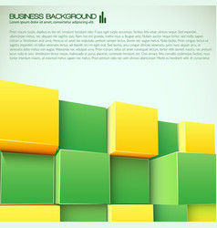 3d blocks business background vector image
