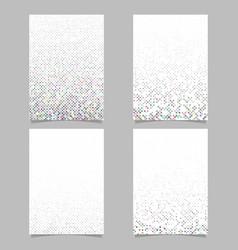 Abstract dot pattern brochure template set vector