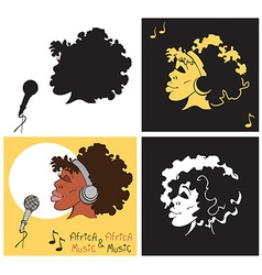 African American woman singing vector image vector image