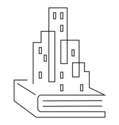 architecture book education icon metropolis vector image