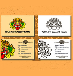 Art gallery business card vector
