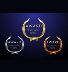 award modern ribbon vector image