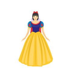 beautiful princess of fairy tale kingdom wearing vector image