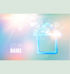 blue liquid gel in form house with earth globe vector image