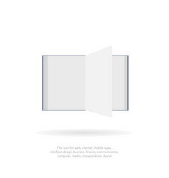 book flat icons 1 vector image