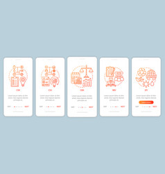 Business concepts principles onboarding mobile vector