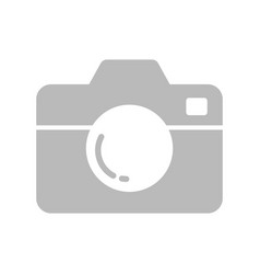 camera icon flat style isolated on white vector image