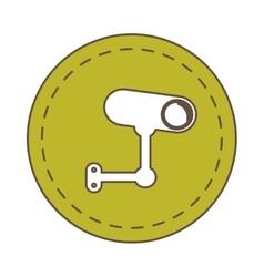 Camera security signal traffic circle vector