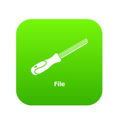 Chisel icon green vector