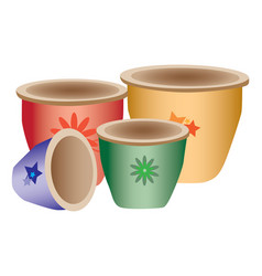 Colorful pottery vector