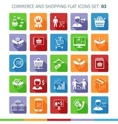 Commerce flat set 03 vector