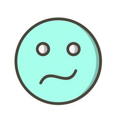 Confused emoji icon vector