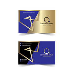 corporate banner design gold and blue vector image