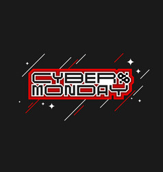 cyber monday banner modern backgrounds with vector image