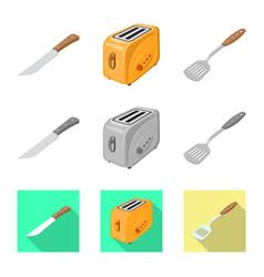 Design kitchen and cook logo set of vector