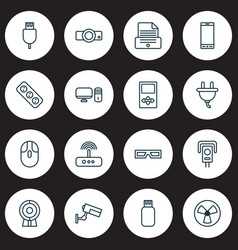 Device icons set collection of cctv universal vector