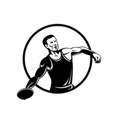 Discus throw or disc throw track and field event vector