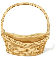 Empty basket vector
