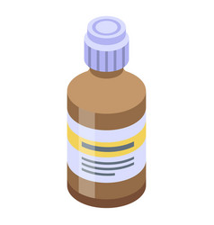 Fish oil syrup icon isometric style vector