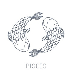 Fishes pisces vector